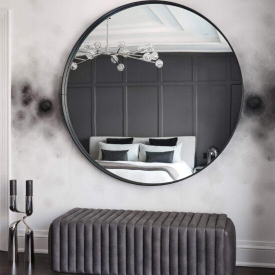 21-master-bedroom-custom-leather-bench-round-mirror